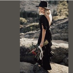 $198 Free People FILM NOIR Maxi Dress S Small